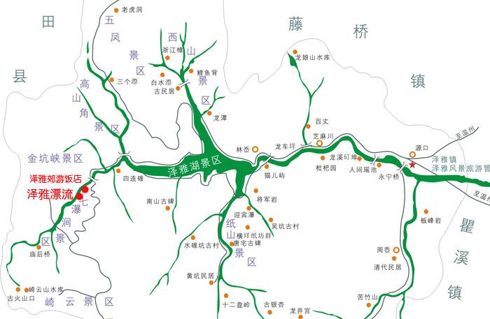 温州泽雅景区地图