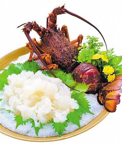 龙虾刺身-温州五马美食林大酒店演绎各式精品龙虾菜肴