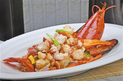 店演绎各式精品龙虾菜肴