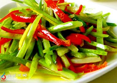 素炒冬瓜皮--特色菜谱--优优优网图片